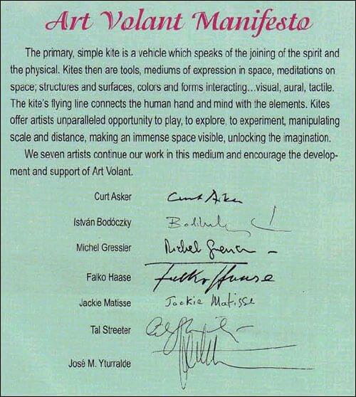 Art Volant Manifesto
